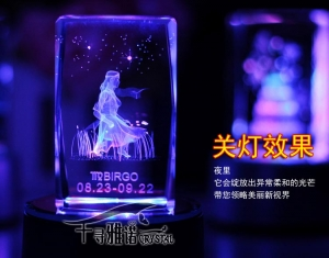 3D Laser Crystal Zodiac Series